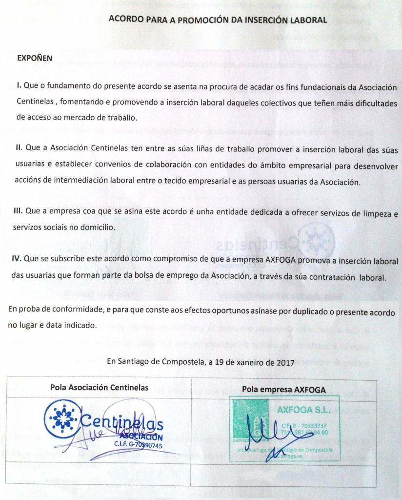 Firma acuerdo centinelas
