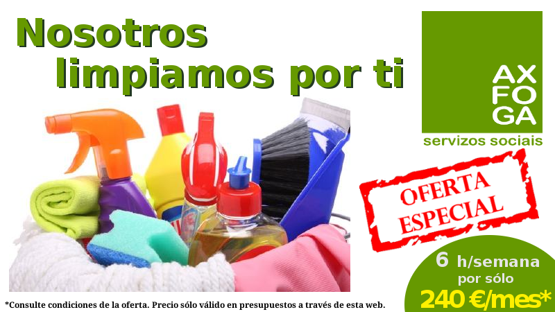 Anuncio Oferta limpieza 6h/semana